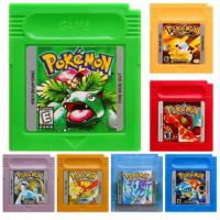 Quality Wholesale Game Boy Color Game Pokemon GBC Game Pokemon Yellow Red Blue Silver Gold Green Crystal In English Mix Order Fr wholesale