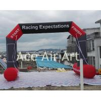 Quality cheap free standing  6mW X3.8m H  inflatable sports archway for US come with removable logo wholesale