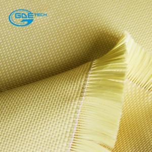Quality Aramid Cloth Fabric Satin Weave 220g 1m Wide wholesale