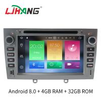 Quality Support Digital TV Double Din Peugeot DVD Player Manual Air Condition wholesale