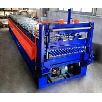 Quality 0.25-0.6mm Corrugated Roof Making Machine / Corrugated Sheet Roll Forming Machine wholesale
