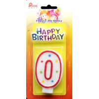 China FSC 0 Height 7.5cm Number Birthday Candles on sale