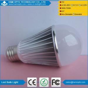 China Warm&Neutral White non-dimmable A60 E26/E27 7W LED Bulb light on sale