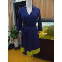 Quality Fitted Wrap Style Women Office Dress Violet Half Sleeve Summer Dresses High End wholesale
