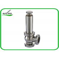 Quality High Sanitation Hygienic Pressure Relief Valve Manual Gear Powered , Union Connection wholesale