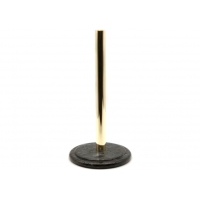 China Upright Black Marble Stone Paper Towel Holder Round Metal Pole on sale