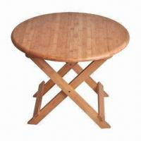 China Foldaway bamboo round dining table on sale