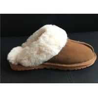Quality Women's Sheepskin Slippers Shoes Luxurious Sheepskin Closed Toe Slippers wholesale