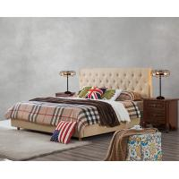 Quality Upholstered Headboard Bed by Modern design Fabric with Contemporary Furniture Apartment Bedroom used wholesale