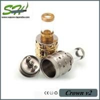 China Crown Atomizer Clone Rebuildable Atomizer Tanks With Glass Drip Tips on sale