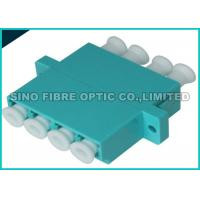 Quality Aqua Quad LC to LC Fiber Optic Adapter 10G OM3 Multimode 50 / 125um wholesale