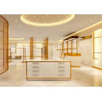 Quality Luxury Stainless Steel Store Display Fixtures For Women Clothing Shop wholesale