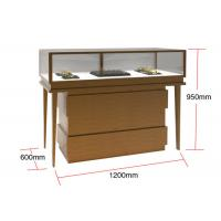 Cheap Veneer MDF Glass Display Cabinets , Jewelry Watches Retail Shop Display for sale