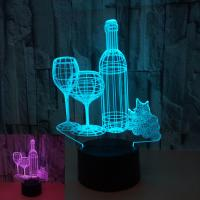 Quality Colorful 3d table lamp night light child gift OEM logo picture bottle cat touch remote control home gift 3D night light wholesale