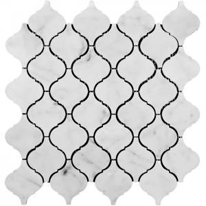 Quality Decorative Geometric Lantern Stone Mosaic Tile Arabesque Baroque Shaped wholesale