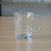 China Transparent drinking glass mug for tea/coffee/milk /brand promotion with 10 oz on sale