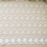 """Quality 51"""" Width Floral Embroidered Nylon Mesh Lace Fabric For Curtain / Clothing wholesale"""