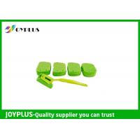 Quality Kitchen Home Cleaning Tool Dish Cleaning Pads With Long Handle Green Color wholesale
