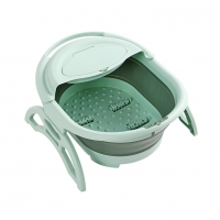 China 1KG Plastic Collapsible Foot Tub Folding Barrel With Cover on sale