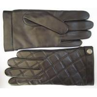 Buy cheap men black leather gloves sheepskin fashion leather gloves from wholesalers