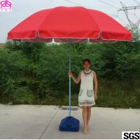 Quality Red / Blue Waterproof Parasol Umbrella With Powder Coated Rib wholesale