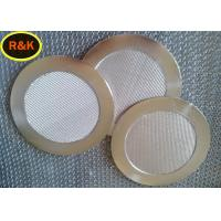 Quality 5 Layers Sintered Steel Filter , Sintered Metal Disc Easy clean wholesale