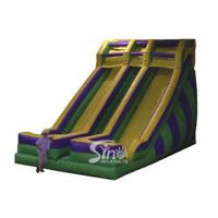 Quality 0.55Mm PVC Tarpaulin Water Prak Commercial Inflatable Slides For Adults wholesale