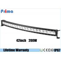 Quality Single Row 200W 42 Inch Cree Curved LED Light Bar For Jeep Off Road Vehicles wholesale