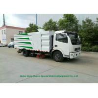 Quality DFAC 5000L Dustbin Road Sweeper Truck for Street Cleaning With 2cbm Washing Water wholesale