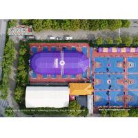 Quality Big Polygon Sports Tent used for Basketball Field with Purple PVC fabric wholesale