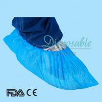 Disposable light blue nonwoven boot cover/shoe cover