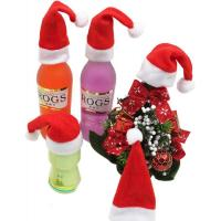Quality Mini Cute Hat Christmas Ornament Crafts Wine Bottle And Tableware Decoration wholesale
