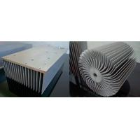 detail round aluminium alloy extrusion heat sink profile in china, good price with nice quality