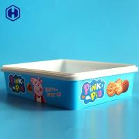 Buy cheap Hot Filling Customize IML Box Round Cookies Plastic Packaging SGS FDA QS from wholesalers