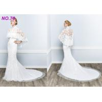 Quality BOHO Jecket Princess Bridal Gowns / Strapless Plus Size Princess Wedding Dresses wholesale