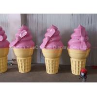 Quality Pink Color Shop Display Christmas Decorations Fiberglass Ice Cream Cone Height 160cm wholesale