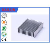 Quality Sliver Anodized Industrial Aluminium Profiles , High Power Extruded Aluminum Heat Sink Enclosure wholesale