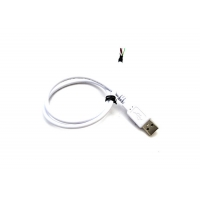 China UL2725 28AWG White USB 2.0 A Male 4P Cable With Heat Shrinkable Tube on sale