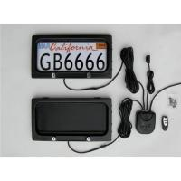 Quality American size, Plastic Stealth Remote Control Automatic Plate Privacy Cover,Car Licence Cover wholesale