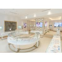 Quality Professional 3D Design Jewelry Display Cases With Stainless Steel Leg wholesale