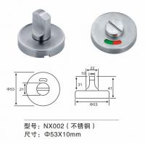 China Stainless Steel Thumb Turn Door Knob Door Fitting Hardware For Washroom Door on sale