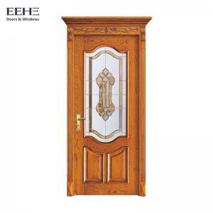 Quality Apartment Solid Wood Internal Doors , Artificial Interior Solid Wood Slab Door wholesale