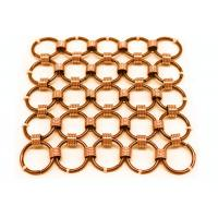 Quality Metal Mesh Drapery / Brass Wire Ring Mesh Curtain Conect With 8mm Circle Dia wholesale