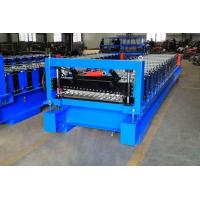 Quality High Efficiency Corrugated Roof Roll Forming Machine With Cr12Mov Cutter wholesale