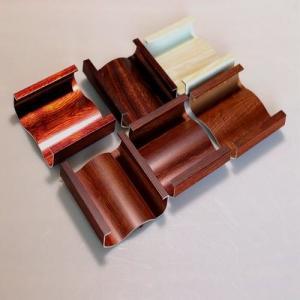 Quality Customized Wood Finish Aluminium Profiles Heat Transfer Extruded Aluminum Profile For Curtain Wall Glass Window And Door wholesale