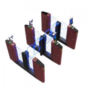China Electroplating Stainless Steel Slim Fastlane Pedestrian Swing Barrier Gate Turnstile on sale