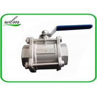 Cheap Sanitary Manual Ball Valve , Three Piece Encapsulated Hygienic Ball Valves for sale