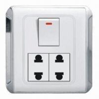 Quality PC Wall Socket Switch with 10A Current, 250V Voltage and CE/IEC/SASO/SGS Standards wholesale