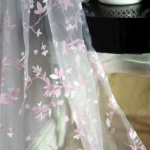 Quality 2018 floral curtain styles for dubai wholesale