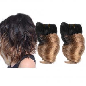 China Brazilian Spring Curl Hair Weaves 3pcs/Lot 100g/pc 100% Human Hair Weft T1B/27 on sale